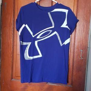 Blue t shirt under armour